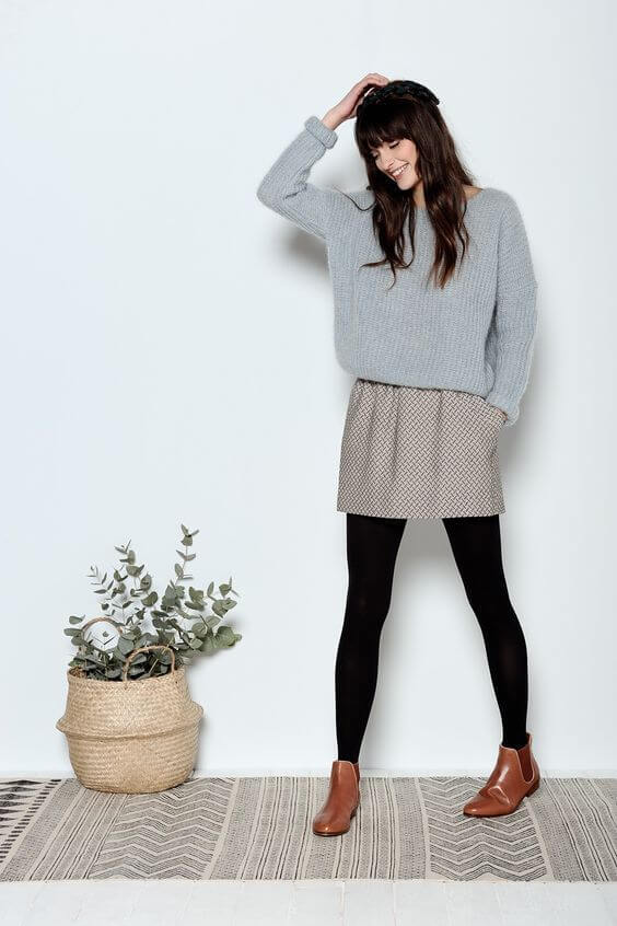 Chelsea boots in a cute outfit.