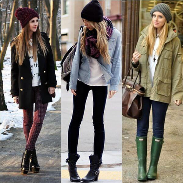 Different styles of beanies.
