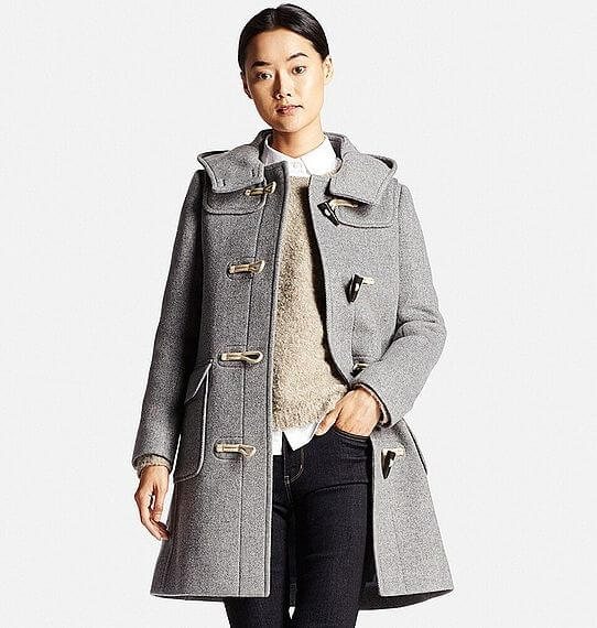 Winter sophisticated look with duffle coat on top.