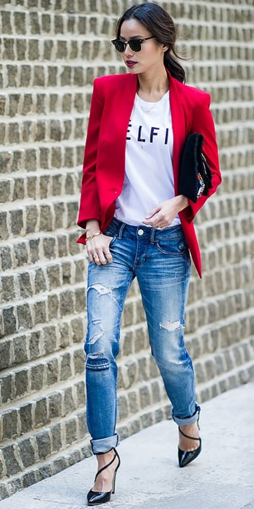 The Cuffing Season: 25 Stylish Outfits With Cuffed Jeans ...