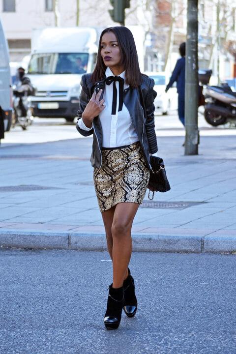Stylish woman with jacket