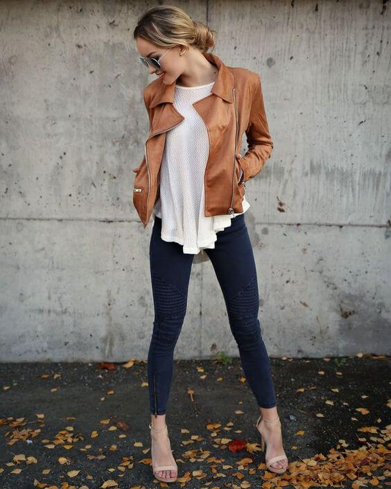 Wearing Brown Leather Jacket 25 Inspiring Looks Belletag