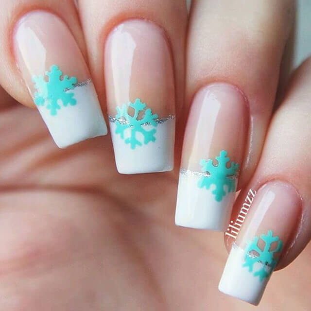 Get this French manicure with a winter twist.