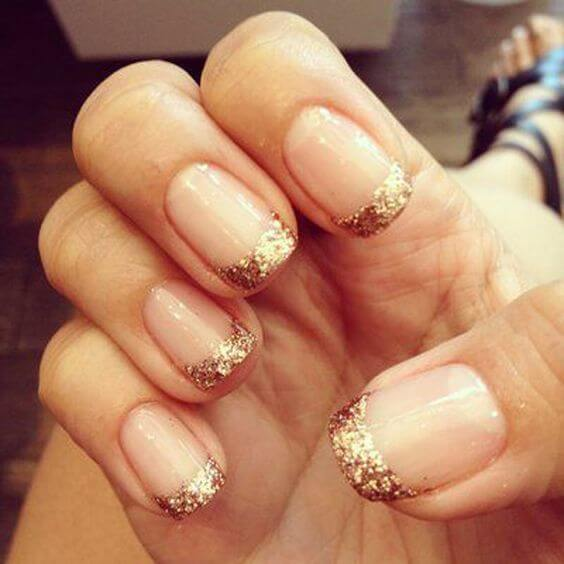 Gold glitter that is!