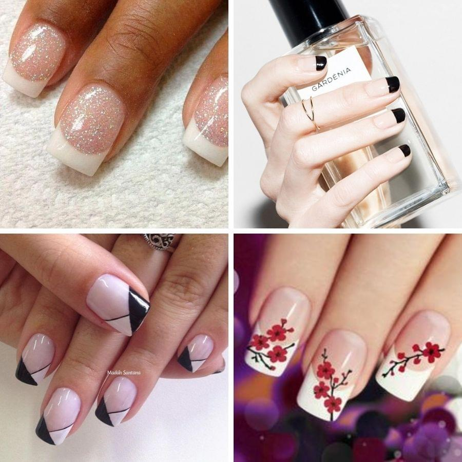 35 Splendid French Tip Nails Classic Nail Art Jazzed Up Belletag