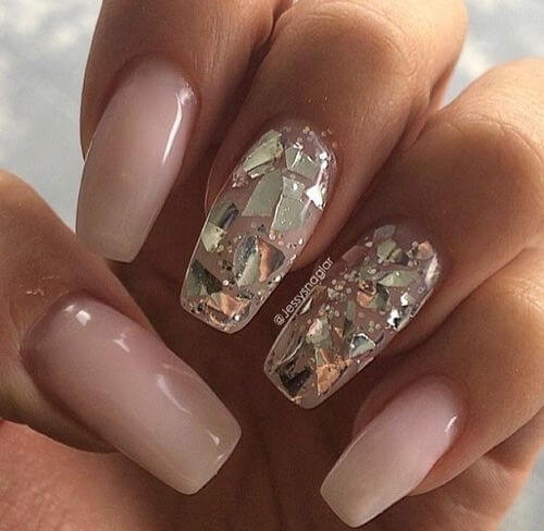 Nails with silver plate