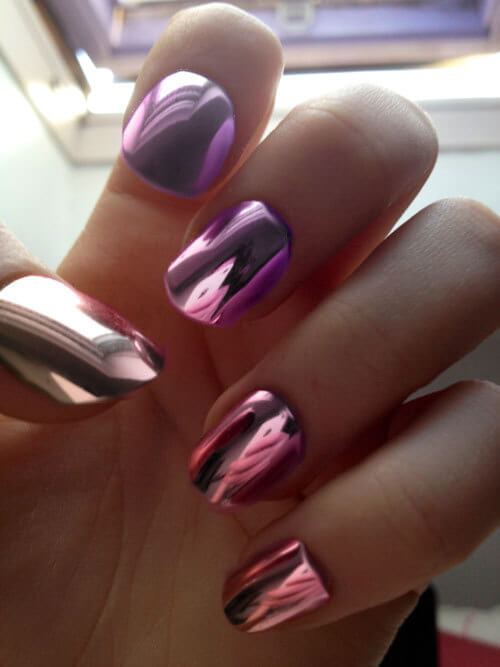 Neon metal nailart