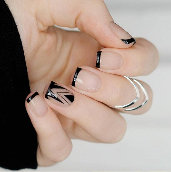 A nice way to add an accent to your nails.
