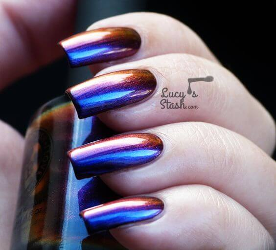 Oh These Metallic Purple Nails