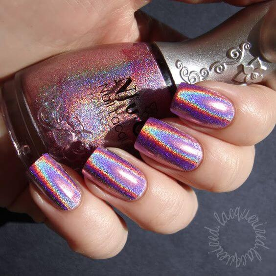 Sparkling Metallic Rainbow Glitter Nails If Were A Unicorn These Would Be It
