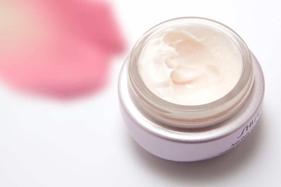 small white tub of Shiseido moisturizer