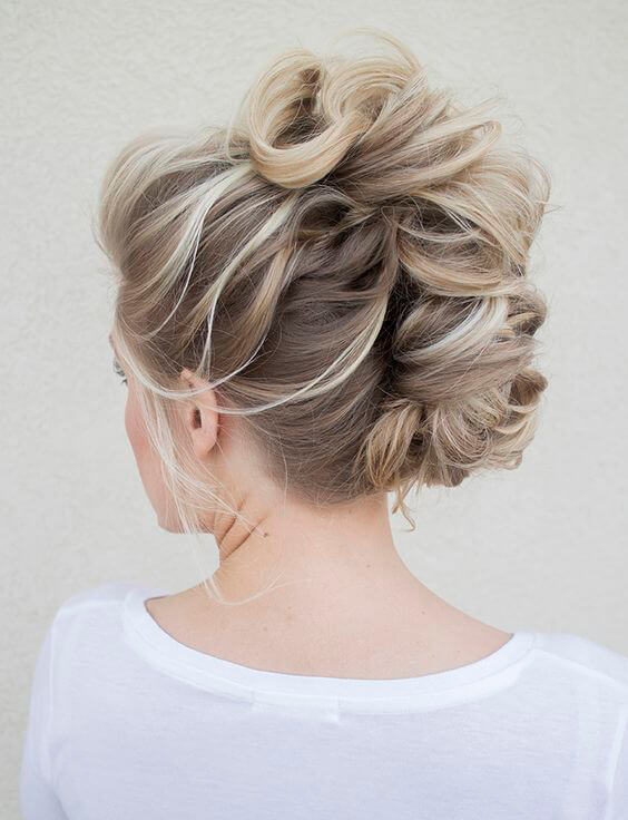 A feminine take on the mohawk hairstyle.
