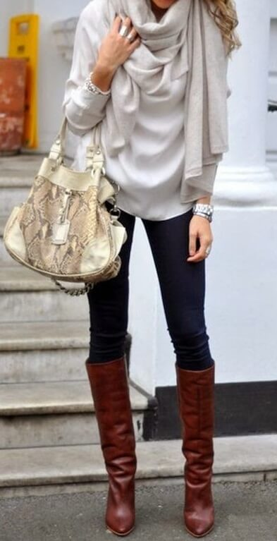 8bbeee899dc 25 Outfits With Brown Boots  How To Wear Boots The Right Way – BelleTag