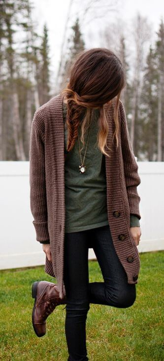 Finish off your street style with this cozy cardigan.