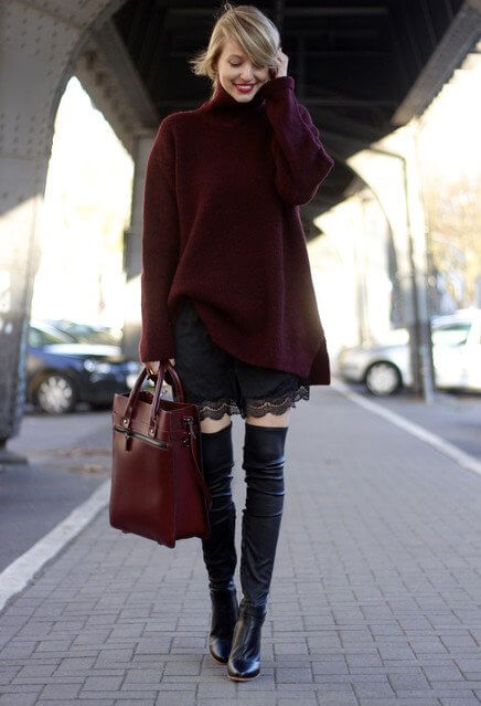 Every woman needs a pair of knee high boots for winter!