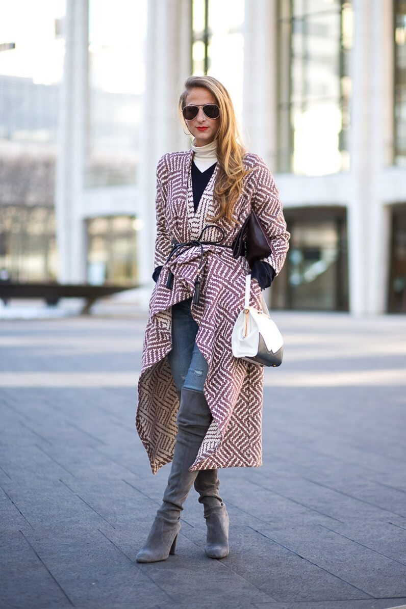 Grey boots look chic on practically every woman!