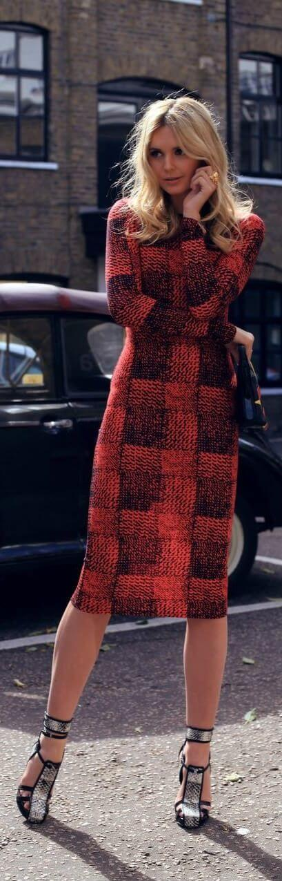 Be bold and daring in a patterned woolen dress for maximum style points.
