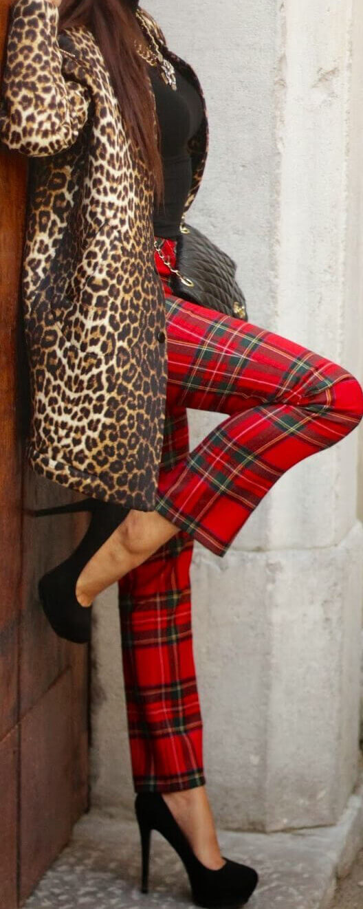 Excessive and outlandish: leopard and tartan!