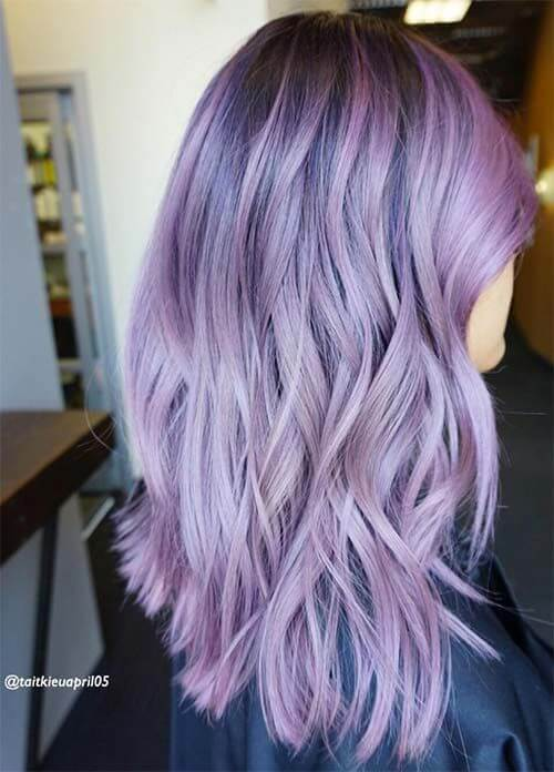 how to make light purple darker hair color
