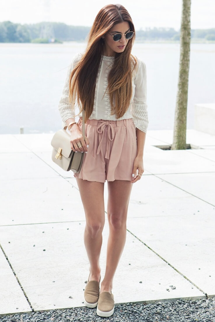 Nude reign is here the moment the sun goes rising, so embrace it with a nude/blush ensemble like here