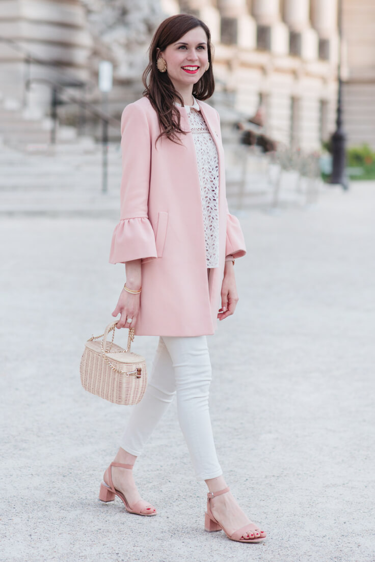 The 60s inspired outerwear is dominating the trend market, so embrace that fact with this petite coat!