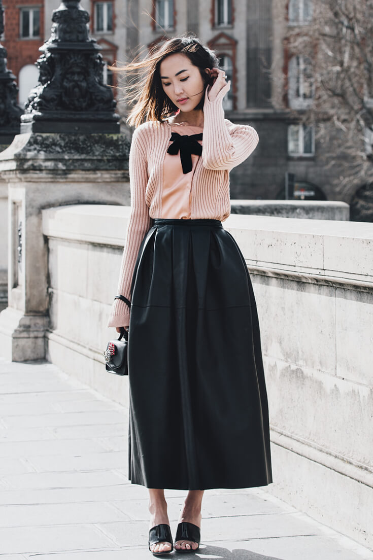 Now this one tops the elegance chart. Blush is the perfect counterpart to the hardness of black for this lady!