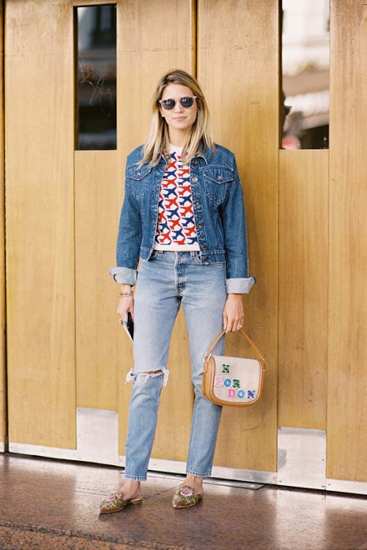 Denim is not meant to be worn just alone or with totally complimentary pieces jeans-wise