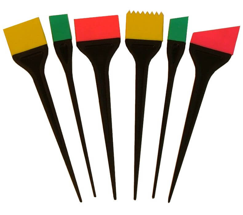 A tinting brush set