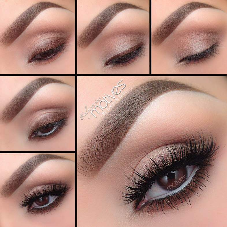 Classic brown makeup look that is ideal for everyday wear - from weekdays at the office