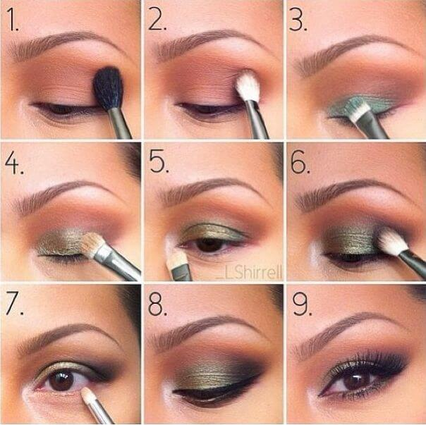 Green eye makeup is one of those perfect pairings that goes hand in hand with brown eyes. The earthy, rustic hues of olive green, in particular, really pick up any specks of gold and honey brown present in the iris.