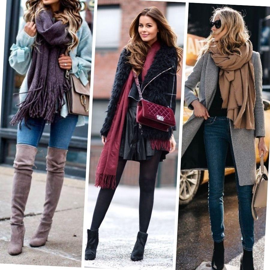 Pretty and stylish outfits with scarves