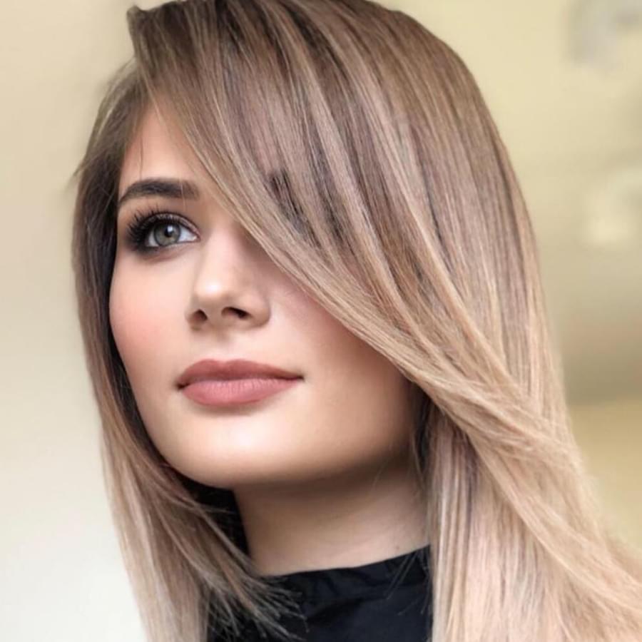 Beautiful long hair with side bangs