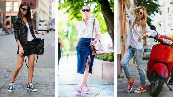 Plenty of ideas and examples of how to wear converse sneakers stylishly. Check yourself and see why cute and comfy converse have stood the test of time.
