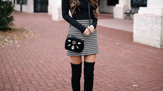 Find out how to wear short dresses and skirts during the colder months. Learn how to dress nicely for the winter - check cute outfits with skirts yourself.