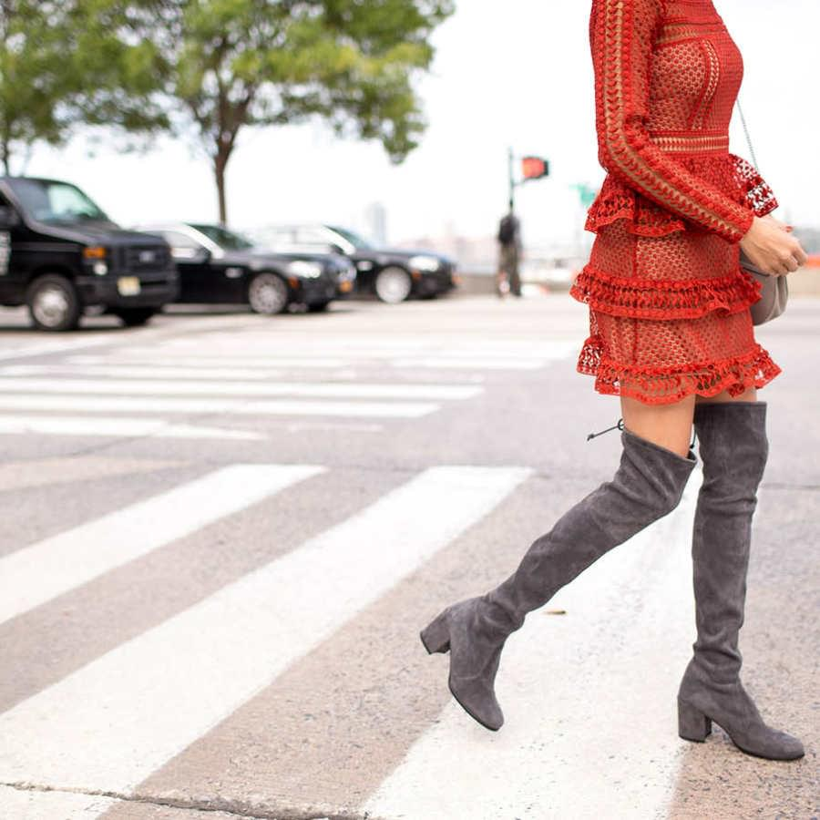 Cute dresses to wear with thigh high boots