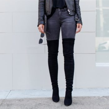 This is what to wear with thigh-high boots on a night out. Feeling sexy, stylish, and warm on a night out is now possible with thigh-high boots.
