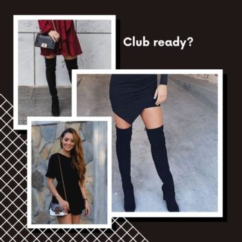 Thigh high boots club outfits