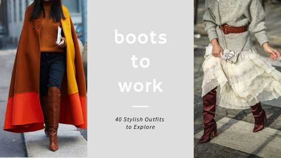 Take your over the knee boots at workplace with these stylish outfit ideas that we have prepared for you. Looking stylish and sophisticated was never easier.