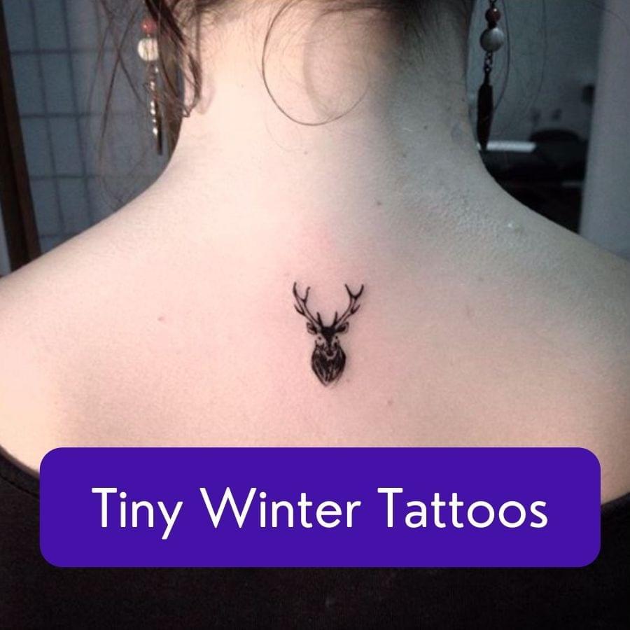 Tiny winter tattoos