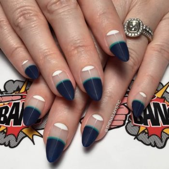 Almond nails are great for all seasons, but for this summer choose bright colors and exciting design.