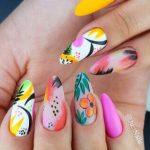 Bright and Colorful Nails For Summer