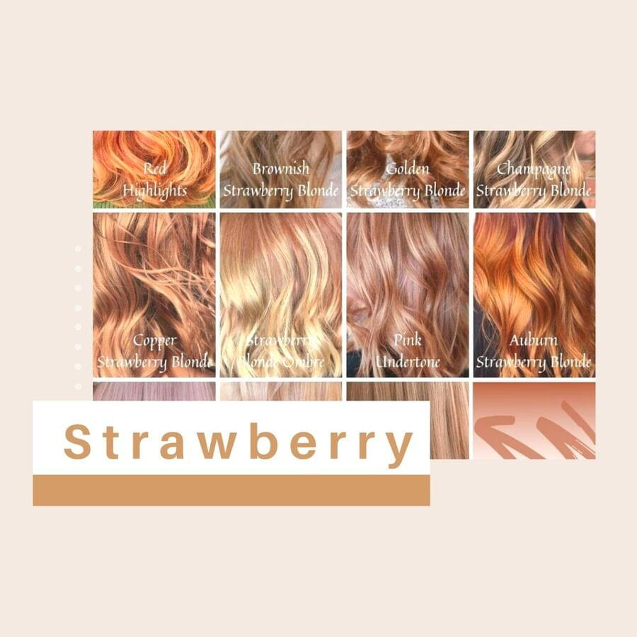 Strawberry Blonde Hair Color Chart