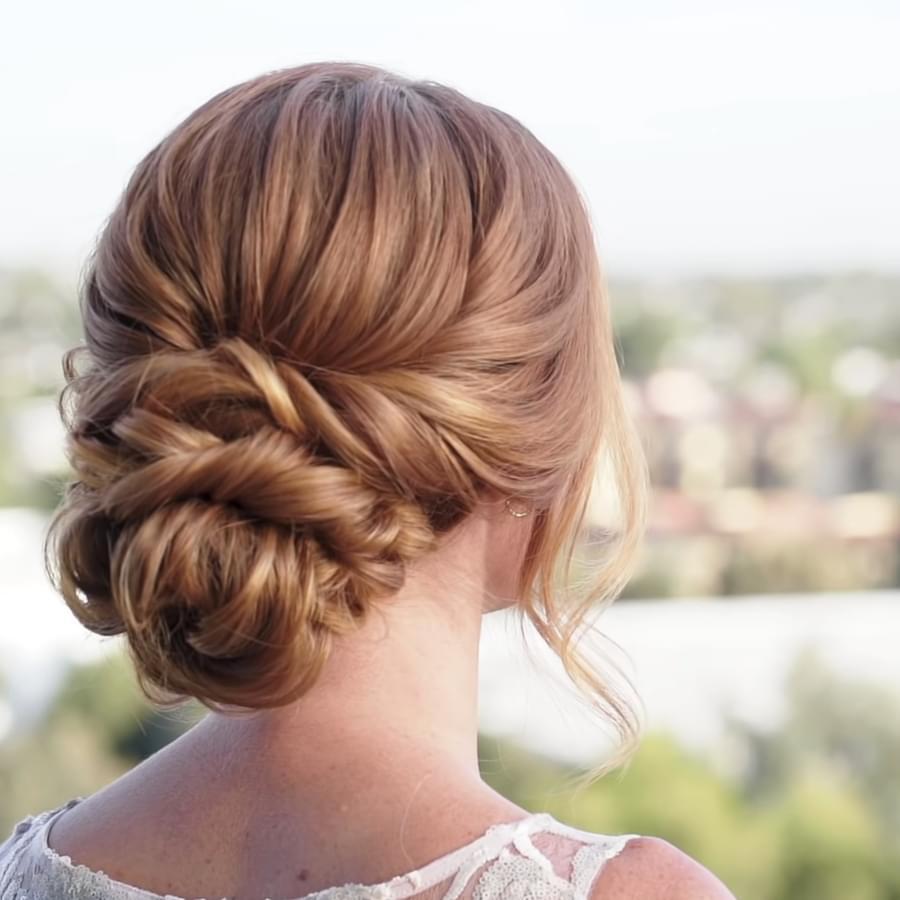 A beautiful braided bun