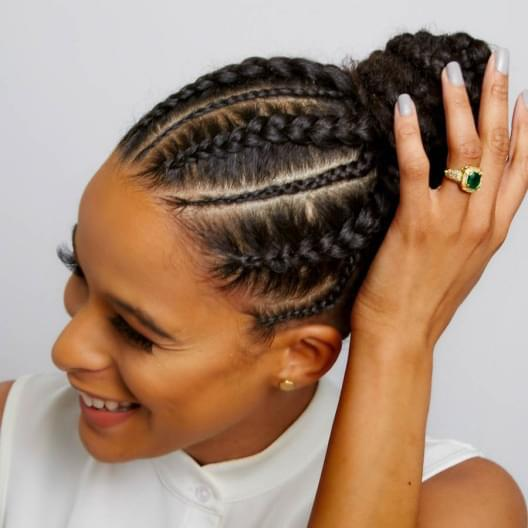Braided bun for black hair