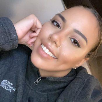 Natural makeup look for black girls