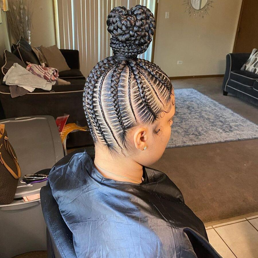 10 Cool Braided Bun Styles For Black Hair From Instagram Belletag Claw on braided ponytail bun updo cover hair piece fake hair extensions as human. cool braided bun styles for black hair