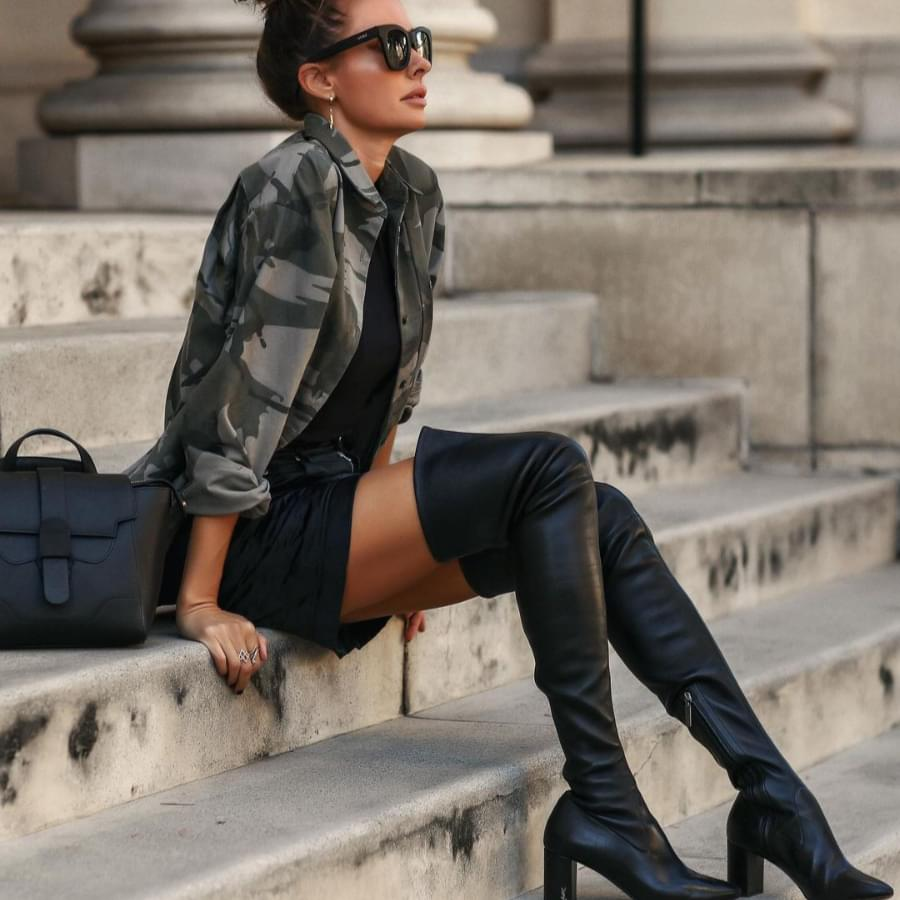 This is how to wear thigh high boots