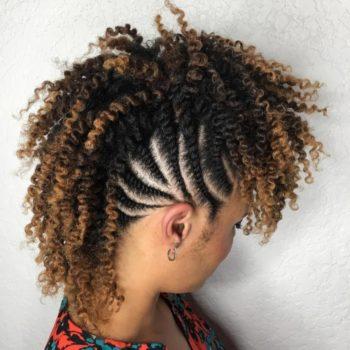 Updo for short black hair