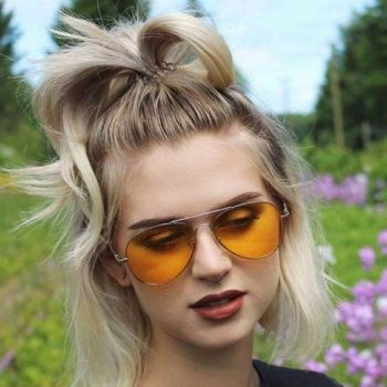 Perfect updo for short fine hair