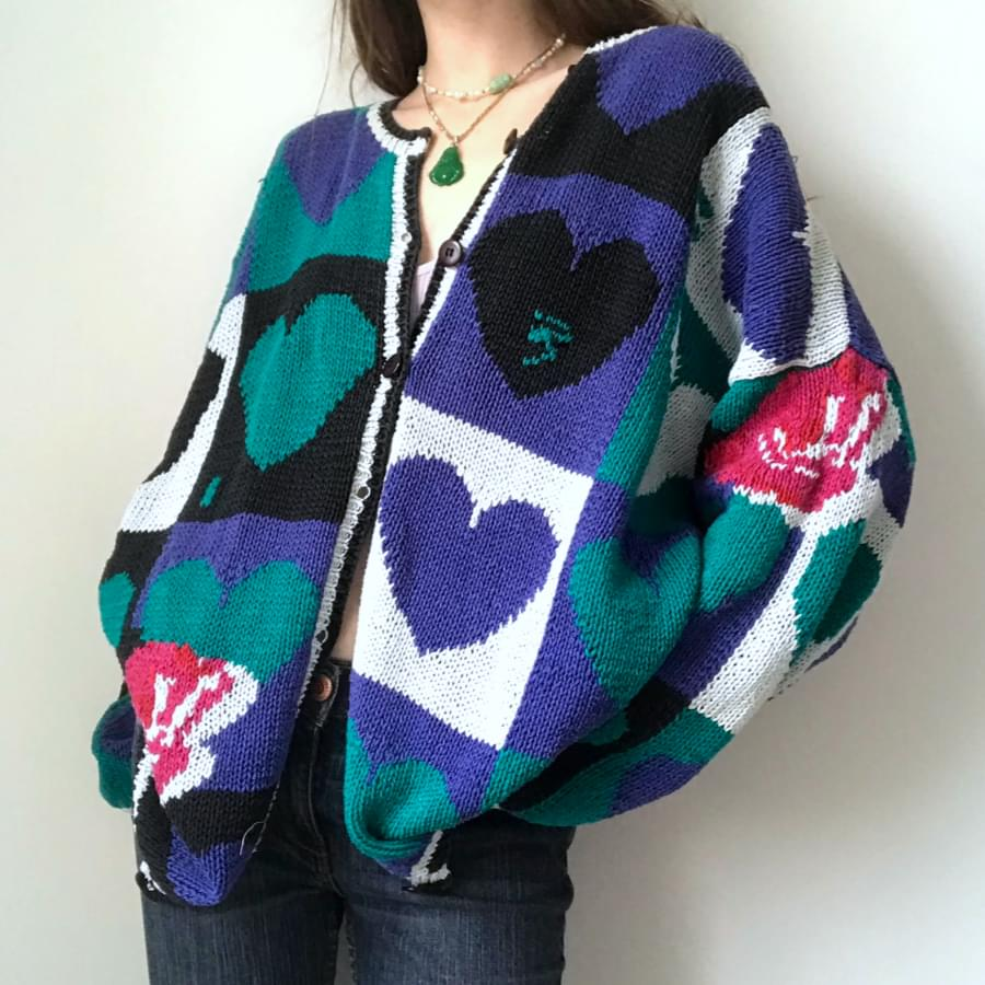 Graphic knit sweater